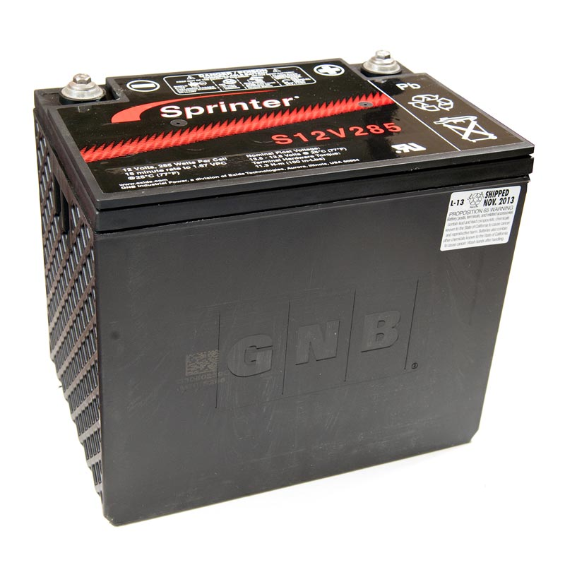 Product Photo of NA-S-12V-285 - EXIDE SPRINTER S12V285 SEALED LEAD ACID BATTERY