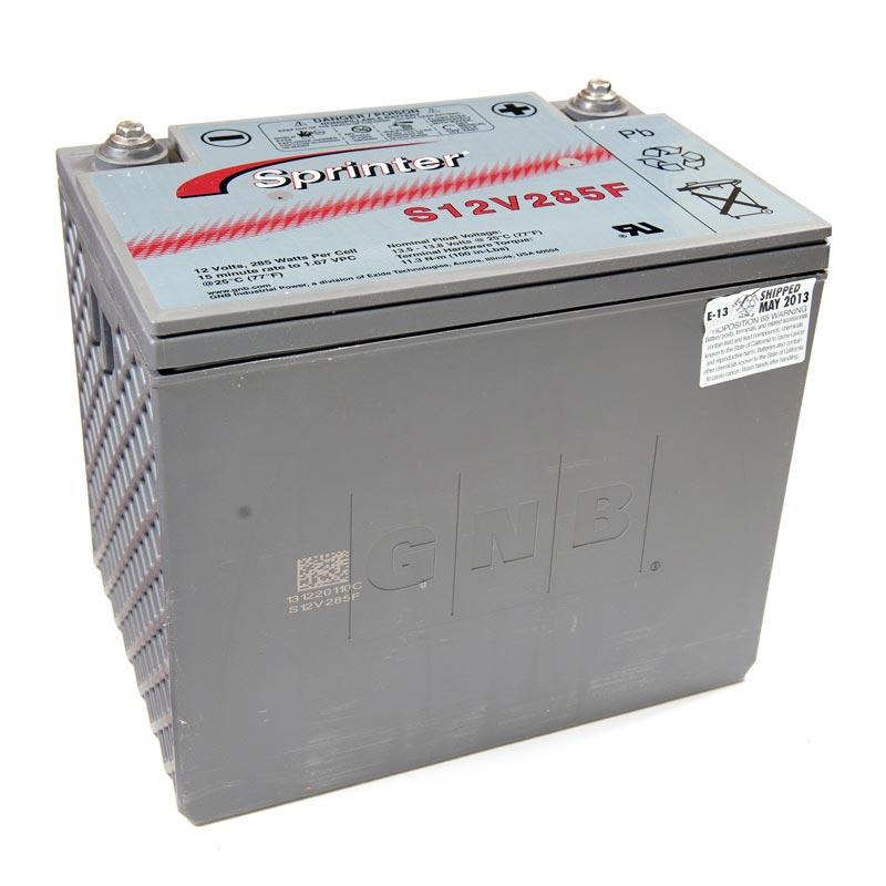 Product Photo of NA-S-12V-285F - EXIDE SPRINTER S12V285F (FLAME RETARDANT) SEALED LEAD ACID BATTERY