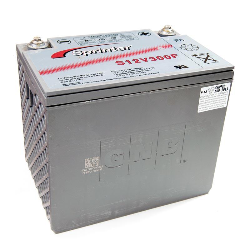 Product Photo of NA-S-12V-300F - EXIDE SPRINTER S12V300F (FLAME RETARDANT) SEALED LEAD ACID BATTERY