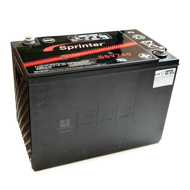 Product Photo of NA-S-6V-740 - EXIDE SPRINTER S6V740 SEALED LEAD ACID BATTERY