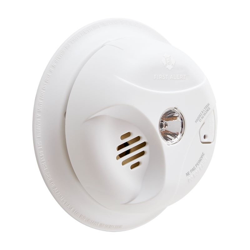 Product Photo of BRK-SA304CNA - BRK SA304CNA 9V Battery Operated Ionization Smoke Alarm with Escape Light