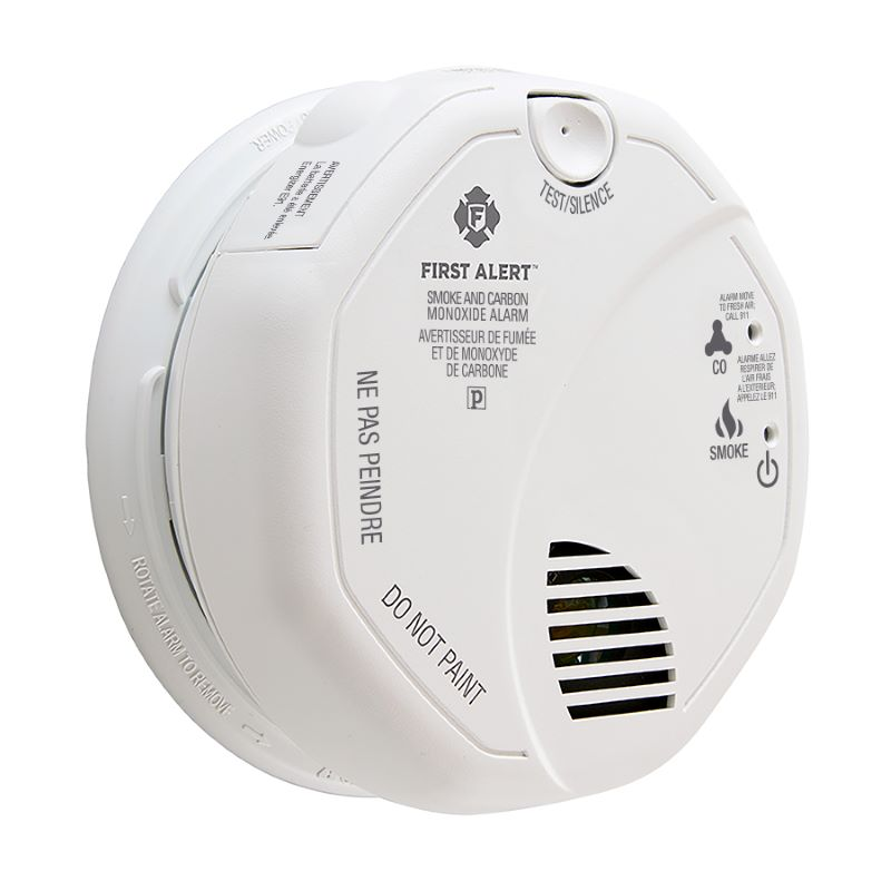 Product Photo of BRK-SC7010BA - First Alert SC7010BA 120V AC/DC Photoelectric Smoke and CO Alarm with Battery Backup