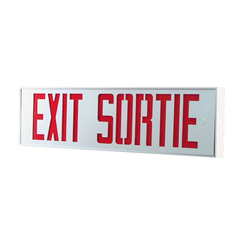 Product Photo of SLESX-SLSEX-Series - Stanpro BILINGUAL Exit/Sortie Signs- extruded aluminum