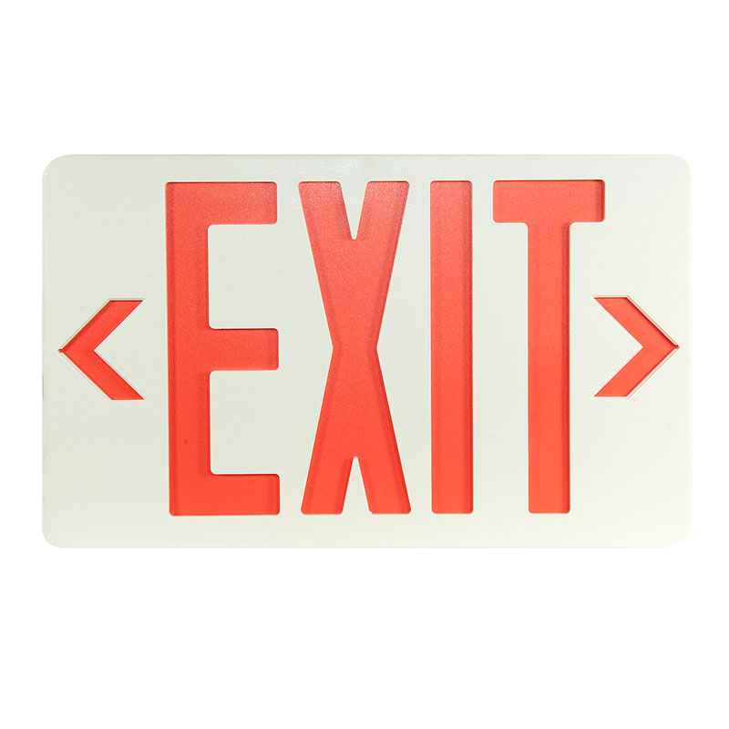 Product Photo of SLEXPC0WH-IB - Stanpro Exit sign- Plastic, self-powered