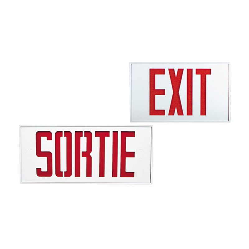 Product Photo of NA-SLEXX-SLSRX- Series - Stanpro Exit/Sortie Sign -extruded aluminum
