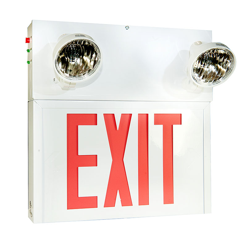Product Photo of SPEXS10720-2N09T - Stanpro 12V 72W Exit/Emergency lighting Combination-STEEL