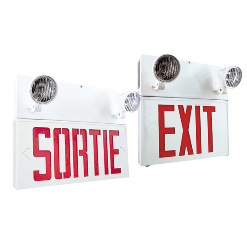 Product Photo of NA-SPEXX-SPSRX-Combo - Stanpro Exit or Sortie emergency lighting Combination-EXTRUDED ALUMINUM