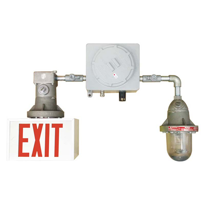 Product Photo of NA-SPEXY-SPSRY-Combo - Stanpro Exit/Emergency lighting Combination units- HAZARDOUS-SPEXY