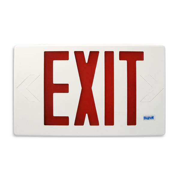 Product Photo of EC-E-SP-L-R-U-M - Beghelli Plastic Exit Sign - EC-E-SP-L-R-U-M