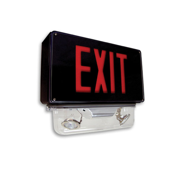 Product Photo of Fortezza-Exit-Combo-Series - Beghelli Vandal Proof Exit Combination Series - Wet Location/IP66 approved