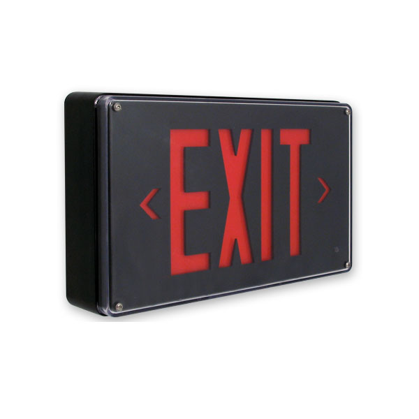 Product Photo of Fortezza-Plus-Series - Beghelli Vandal-Proof Exit Sign -low profile