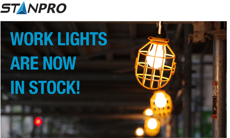 work lights are now in stock!