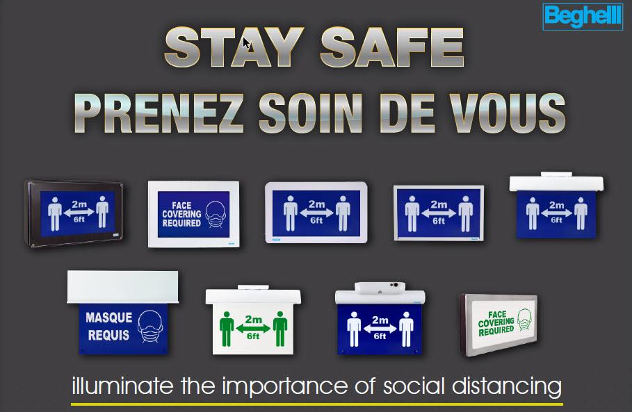 Beghelli Social Distancing Signage